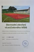 Slavnostní otevření školního hřiště 1